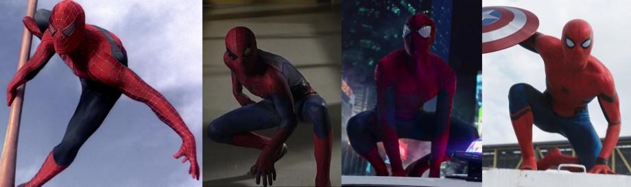 En jämförelse av de olika filmdräkterna.